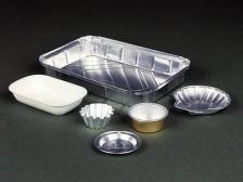 Verpackungen, Becher, Dosen, Näpfe aus Alufolie für Speisen und Tiernahrung