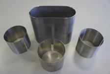 Metallkatalysatorengehäuse in wärmebeständigen Stahl