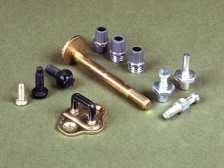 Automotive parts poles, bolts, screws and locking devices